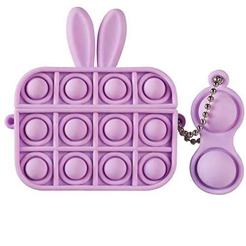 POP IT FUNDA DE SILICONA, P/ AIRPOD PRO CASE/orejas purple