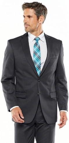 Van Heusen Mens Suit Separates Classic-Fit Patterned Suit Jacket, Grey