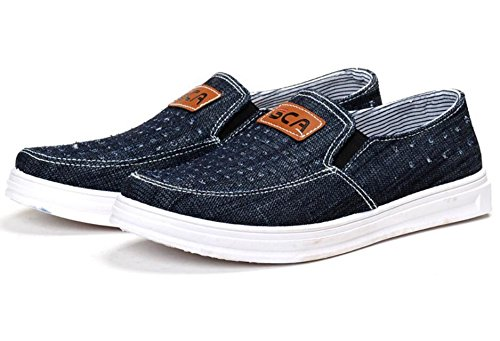 Lightweight Net Vestire Confortevole Casual e Uomo Casual Scarpe Mocassini 1 Respirabile Light Scarpe Da Casual Denim dYq4zwBT
