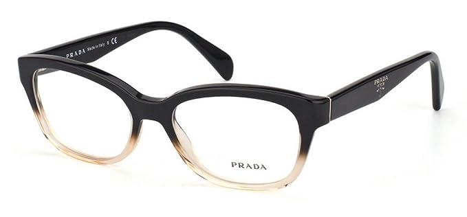 d30858aa3015 New Prada PR 20PV QFJ101  Black Pink Gradient Frame Men Women Rectangular  Eyeglasses  Amazon.co.uk  Clothing