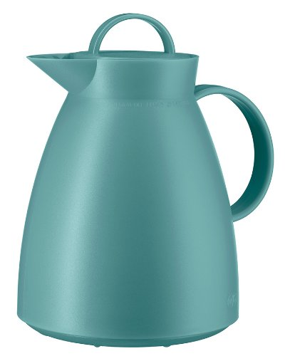 Alfi Insulated Flask Dan, Vacuum Bottle, Coffee Bottle, Plastic, Twist-Off Cap, Teal / Turquoise, 1 Liter, 0935080100