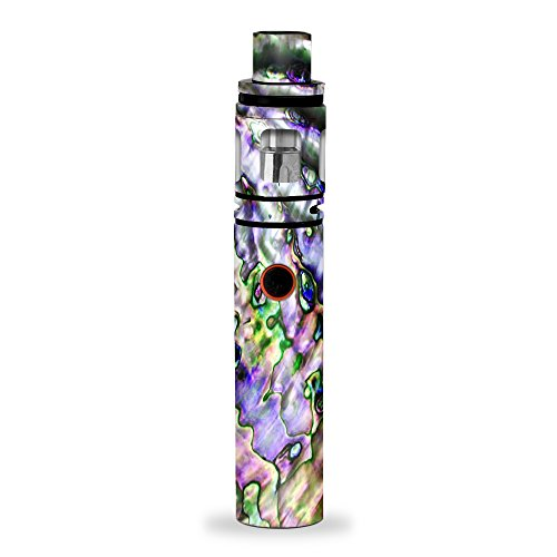 Skin Decal Vinyl Wrap for Smok Stick V8 Vape stickers skins cover/Purple Abalone Shell Seashell Pearl Colorful