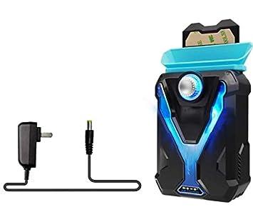 AScooler Almohadillas de refrigeración para Ordenador portátil Ventilador de Escape Tipo radiador Lateral Ventosa Ventiladores universales con Luces LED ...