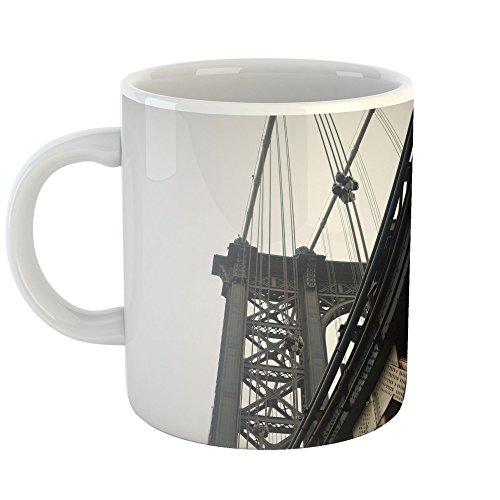 Westlake Art - Architechture Manhattan - 15oz Coffee Cup Mug - Modern Picture Photography Artwork Home Office Birthday Gift - 15 ()