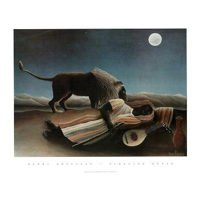- (22x28) Henri Rousseau Sleeping Gypsy Art Print Poster