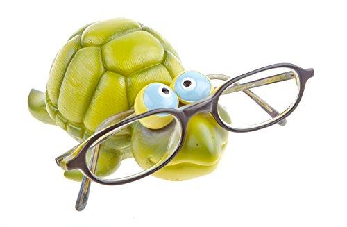 by-Bers Brillenhalter Karibik, Design Schildkröte, handbemalt, aus Polyresin