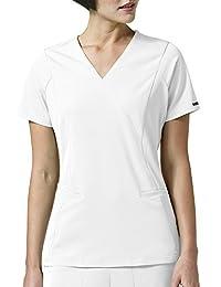 WONDERWINK womens plus-size Wonderwink Hp Axis Mock Wrap Women's Plus Scrub Top