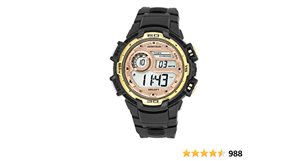 Armitron Sport Men's Digital Chronograph Resin Strap Watch, 40/8347