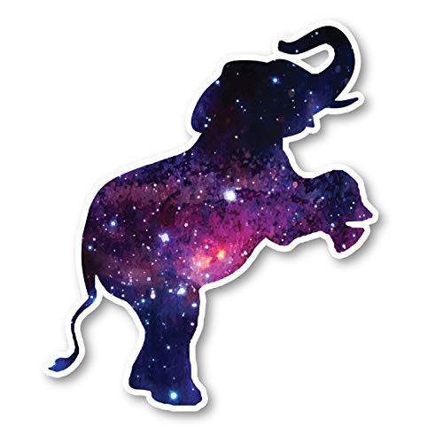 (Elephant Jumping Sticker Galaxy Stickers - Laptop Stickers - 2.5