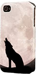 Wolf Howling AT Moon Dimensional Case Fits iPhone 5c by lolosakes