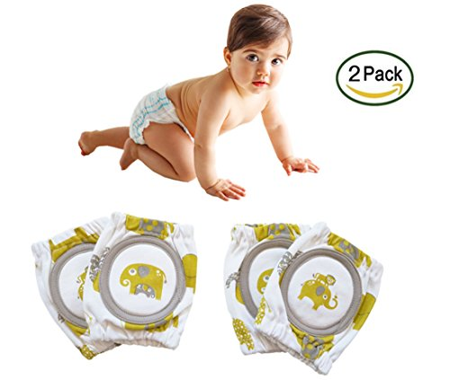 Baby Crawling Knee Pads,Jorbest Infant Toddler Safety Protector,Cute and Practical(2 Pairs)