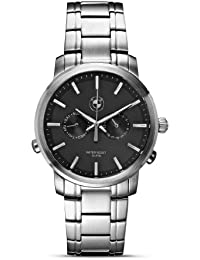 Mens Watch - Stainless Steel Band, Black Face. BMW