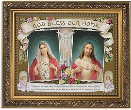 US Gifts God Bless Our Home Series House BlessingsPrint in Ornate Gold Finish Frame