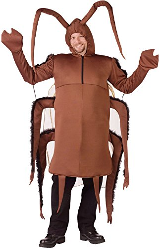 Adult Cockroach Halloween Costumes (UHC Men's Cockroach Creepy Insect Scary Theme Party Adult Halloween Costume, OS)