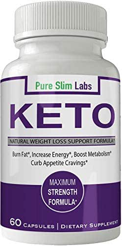 Pure Slim Pills Advance Weight Loss Supplement Appetite Suppressant Natural Ketogenic 800 mg Formula with BHB Salts Ketone Diet Capsules to Boost Metabolism, Energy and Focus