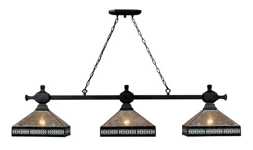 (Elk 70061-3 Mica Filigree 3-Light Billiard Light, 60-Inch, Tiffany Bronze)