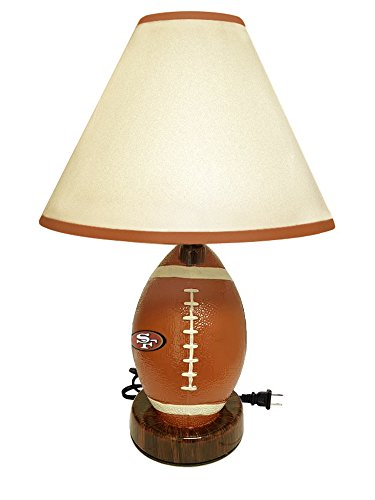 Football Shaped Desk Lamp Featuring Your Favorite Football Team! (49er's)