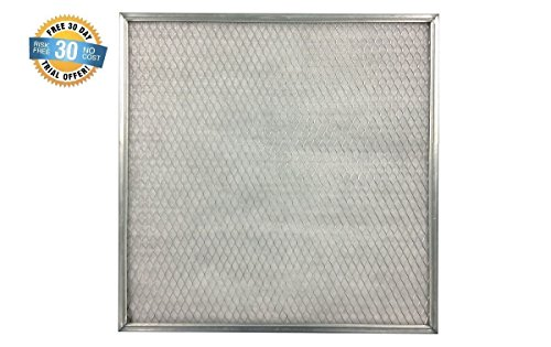 25x25x1 Electrostatic Washable Permanent A/C Silver Steel...