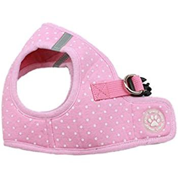 BINGPET BB5004 Polka Dot Soft Vest Dog Puppy Pet Harness Adjustable - Pink