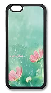 iPhone 6 Cases, Simple Mist Flower Durable Soft Slim TPU Case Cover for iPhone 6 4.7 inch Screen (Does NOT fit iPhone 5 5S 5C 4 4s or iPhone 6 Plus 5.5 inch screen) - TPU Black