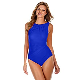 Women's Miracle Solids One Piece High Neck Swimsuit 41bzEkzLVpL