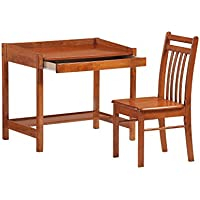 Night and Day Furniture Zest Student Desk in Cherry Finish