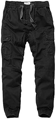 BaronHong Pantalones de chándal de Camuflaje de algodón para ...