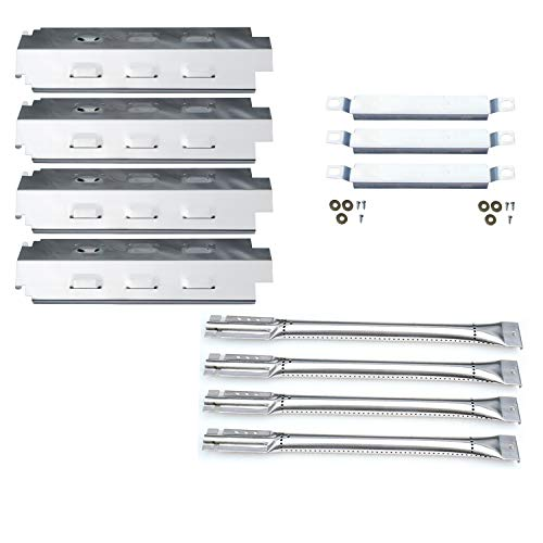 Direct store Parts Kit DG157 Replacement Charbroil 463420507,463420509,463460708,463460710 Gas Grill Burners, Carryover Tubes,Heat Plates (SS Burner + SS Carry-Over Tubes + SS Heat Plate)