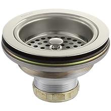Kohler K-8799-SN Duostrainer Sink Strainer, Less Tailpiece, Vibrant Polished Nickel