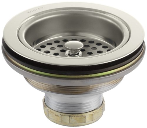 Kohler K-8799-SN Manual Sink Strainer, Vibrant Polished Nickel