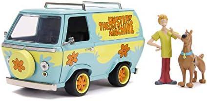 Jada Toys Scooby-Doo 미스터리 머신 1:24 스케일 다이캐스트 차량 Shaggy & Scooby 피규어 모델 포함 / Jada Toys Scooby-Doo 미스터리 머신 1:24 스케일 다이캐스트 차량 Shaggy & Scooby 피규어 모델 포함
