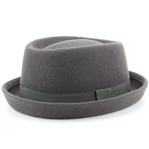 f57a2e0f28050 De alta calidad Hawkins-Sombrero porkpie Heisenberg de fieltro de lana con  banda