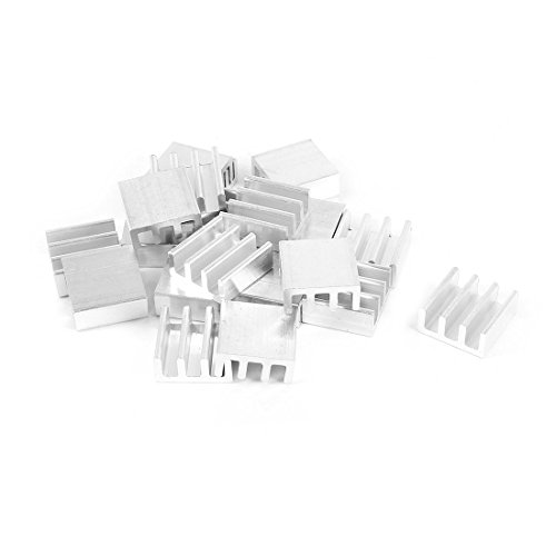 uxcell 20 Pcs Aluminium Heatsink 11mm x 11mm x 5mm for Memory Chipset