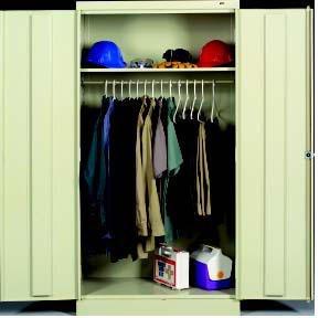 Tennsco Corp., Standard Tennsco Wardrobe Cabinets, Tnwc-361872S, W X D X H: 36 X 18 X 72, Description: Welded Set Up, Color: Sand, 7114