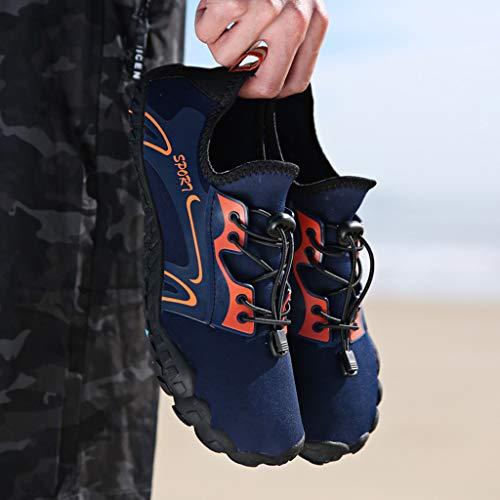 Uomo Da Calzini Lanskrlsp Aqua Adatte Spiaggia Immersione Surf Mare Sport Per Blu Ballo Scarpette Swim Piedi E Yoga Bagno Beach Donna Scarpe Acquatici Immersione Nudi xIIT5Ar