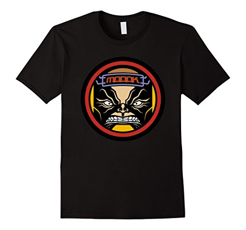 Mens Marvel MODOK The Living Computer Face Icon Graphic T-Shirt Medium Black