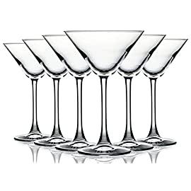 Martini/Cocktail Glasses with Beautiful Colored Stem - 10 oz. set of 6- Additional Vibrant Colors Available by TableTop King 50 Set includes 6 Wine Glasses with a beautiful colored accent. They make great gifts for any occasion,they feature a shape that enhances your drinks aromas and flavors. These amazing glasses are ideal for wine and all beverages as well.