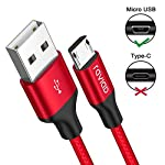 RAVIAD-Cavo-Micro-USB-4-Pezzi03m1m2m3m-Cavo-USB-Micro-USB-Ricarica-Rapida-Nylon-Intrecciato-Caricabatterie-Android-per-Samsung-Galaxy-S7-S6-S5-J7-Xiaomi-Huawei-Honor-Sony-LG-Nokia-Kindle