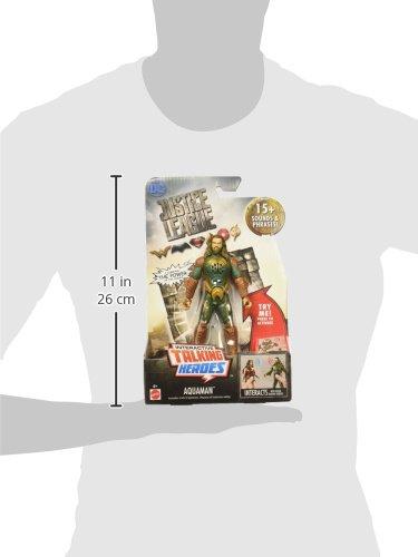 "DC Justice League Talking Heroes Aquaman Figure, 6"""