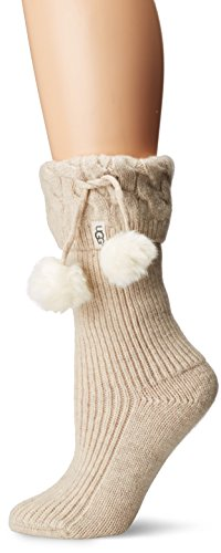 UGG Women's Pom Short Rainboot Sock, Cream Heather, for sale  Delivered anywhere in USA