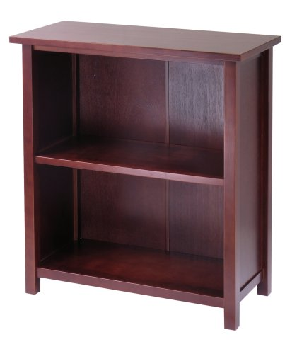 Winsome Wood 3-Tier Storage Shelf, Medium - Medium Walnut Oak Bookcase