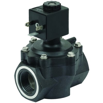 """3/4"""" 2-Way Nylon Solenoid Diaphragm Valve - 120 VAC Spaded from Canfield Industries"""