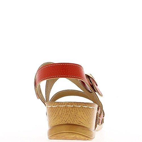 Cuña de confort negro sandalias de tacón de 5cm