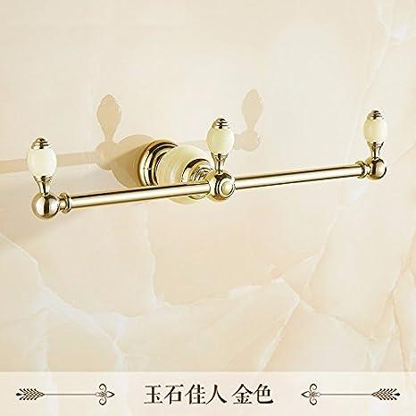 lzzfw Continental retro wc cuarto de baño toalla carril de la propiedad suspensión de una sola palanca toalla: Amazon.es: Hogar