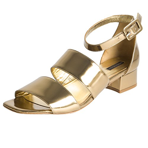 Marina Women's Gold Strappy Lucia Gold Rinaldi Sandals pfx5wrpq