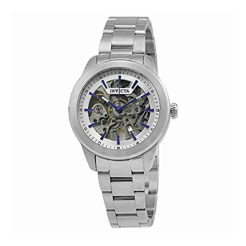 Invicta Vintage Lady Automatic Silver Skeleton Dial Ladies Watch - Skeleton Movement