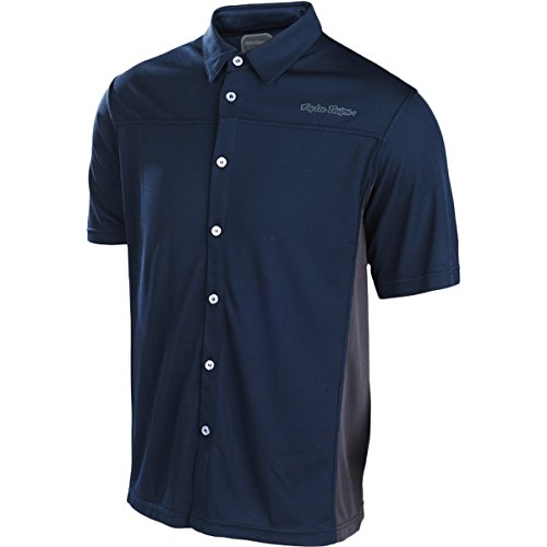 [Troy Lee Designs Mens Compound Button Up Short-Sleeve Shirt X-Large Navy] (Troy Lee Designs Pit Shirt)