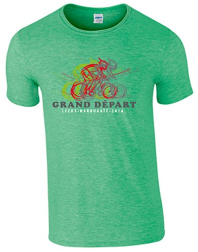 shirt Crew Cycle Green Homme Irish Vert T 360 Heather Manches Courtes qwAB7