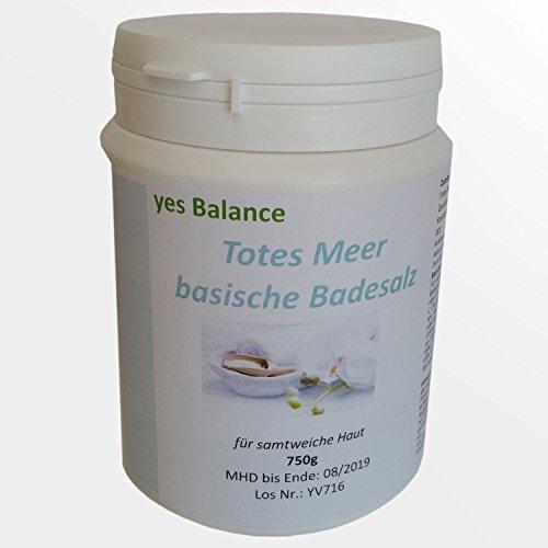 BASENBAD - yesBalance - Totes Meer Salz - Lebensmittel Qualität - Natriumcarbonat, Rosenblütenblätter BIO-De ÖKO-001