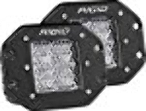 (Rigid Industries 212513 D-Series Pro, 3 Inch, Flood Diffused Beam, Flush Mount, LED Light, Pair Universal, 2 Pack)